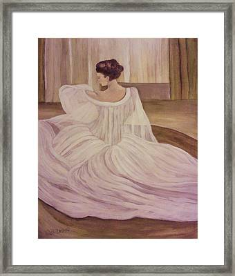 The Lady In White Framed Print by Christy Saunders Church
