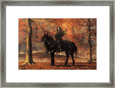 The Lady Of Halloween Framed Print
