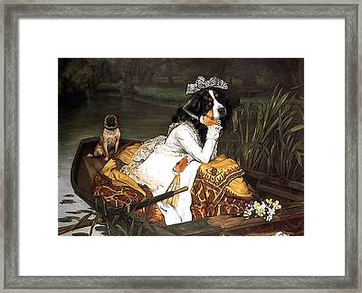 The Lady Of The Lake Framed Print by Jaime De Haas