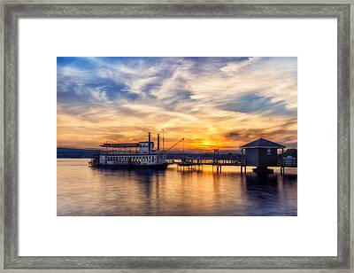 The Lady Of The Lake Framed Print by Mark Papke