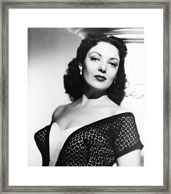 The Lady Pays Off, Linda Darnell, 1951 Framed Print by Everett