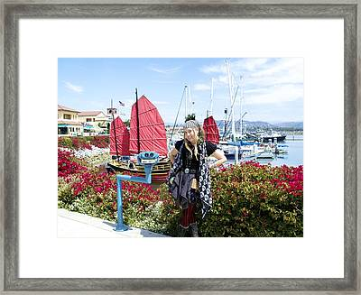 The Lady Pirate Framed Print