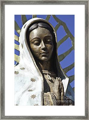 The Lady Prays Framed Print by Terry Rowe