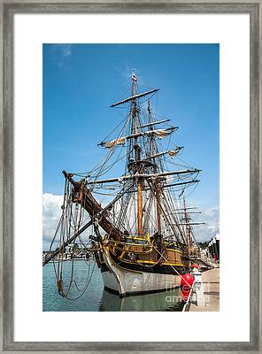 The Lady Washington Framed Print by Christopher Cutter