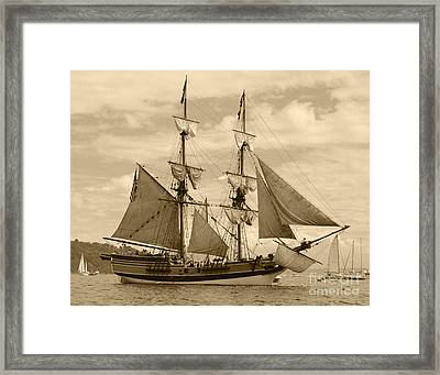 The Lady Washington Ship Framed Print