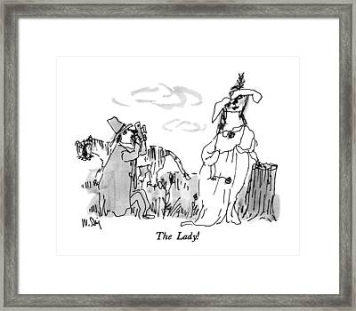 The Lady! Framed Print by William Steig