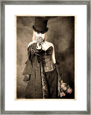The Lady's Not For Roses Framed Print