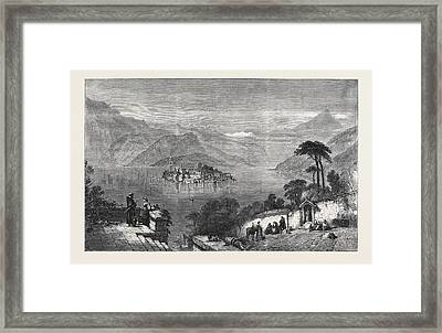The Lago Dorta, In The Exhibition Of The Society Framed Print