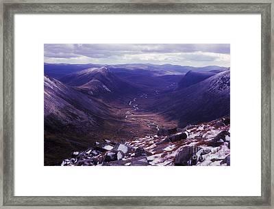 The Lairig Ghru - Cairngorm Mountains - Scotland Framed Print