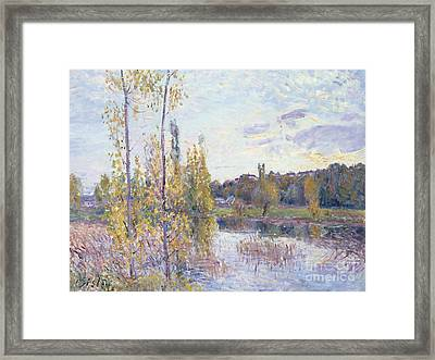 The Lake At Chevreuil Framed Print by Alfred Sisley