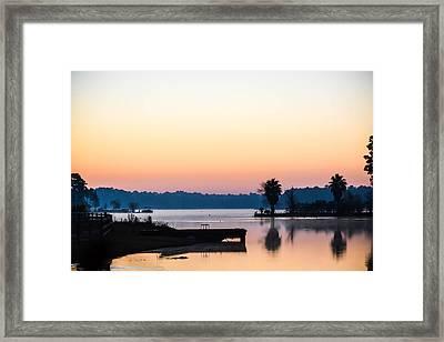 The Lake Before Sunrise Framed Print