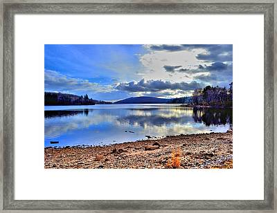 The Lake Framed Print by Dave Woodbridge