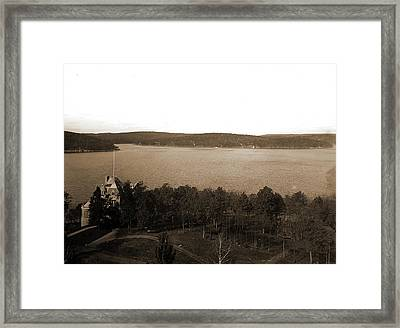 The Lake From The Club, Hopatcong, New Jersey, Lakes & Ponds Framed Print