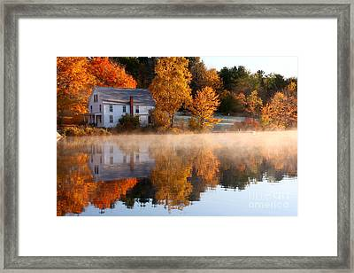 The Lake House Framed Print by Butch Lombardi