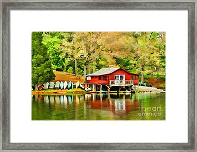 The Lake House Framed Print by Darren Fisher