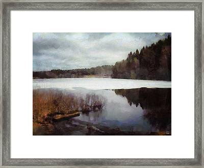 The Lake In My Little Village Framed Print