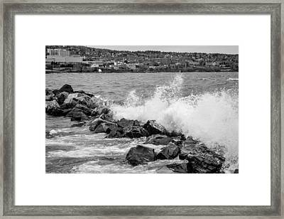 The Lake Framed Print by John Ressler