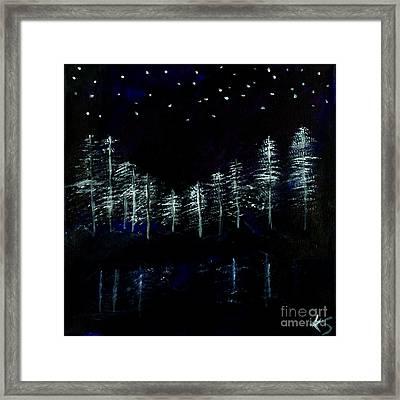 The Lake  Framed Print by Katy  Scott