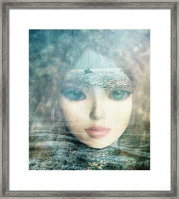 Framed Print featuring the digital art The Lake Muse by Barbara Orenya