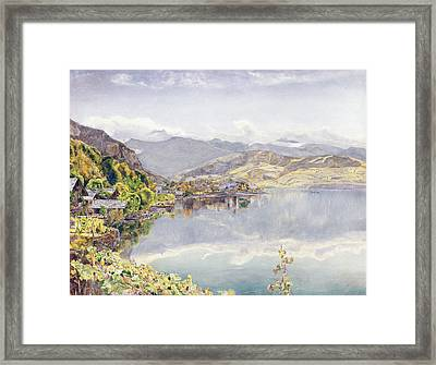 The Lake Of Lucerne, Mount Pilatus Framed Print by John William Inchbold