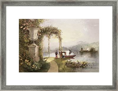 The Lake  Trentham Hall Gardens Framed Print by E Adveno Brooke