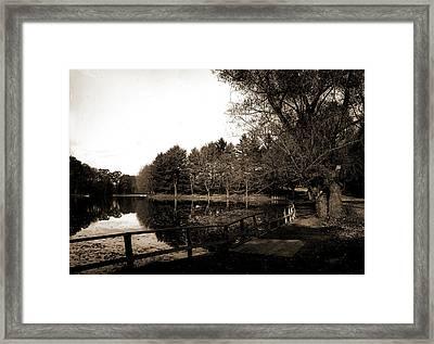 The Lake, Vassar College, Universities & Colleges, Lakes & Framed Print