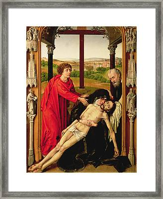 The Lamentation Of Christ Framed Print by Rogier van der Weyden