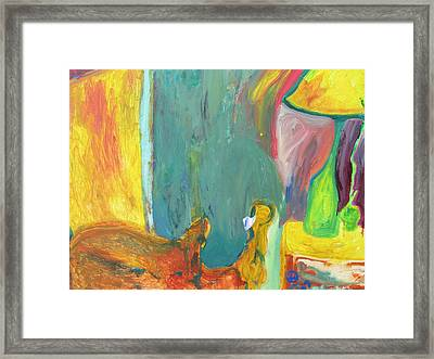 The Lamp And Bamboo Framed Print by Shea Holliman