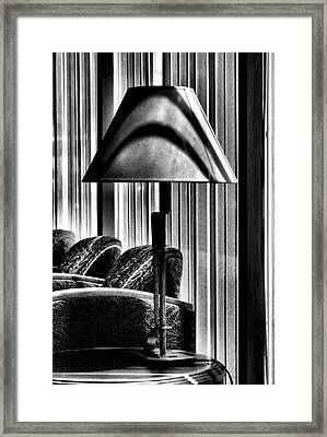 Framed Print featuring the photograph The Lamp In The Lobby by Bob Wall
