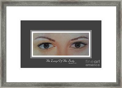 The Lamp Of The Body Poster By Saribelle Rodriguez Framed Print by Saribelle Rodriguez