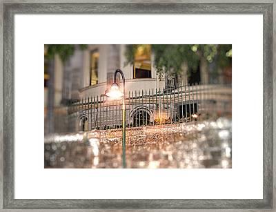 The Lamp Post Framed Print by Phillip J Gordon