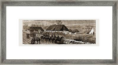 The Land Agitation In Ireland Erecting A Police Hut At New Framed Print by Litz Collection