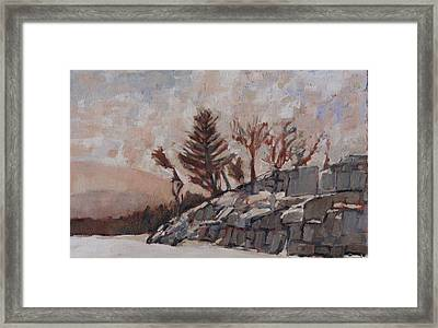 The Land Between I Framed Print by David Dossett