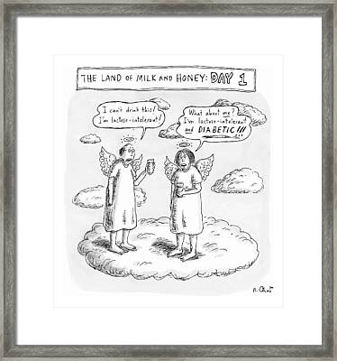 The Land Of Milk And Honey: Day 1 Framed Print