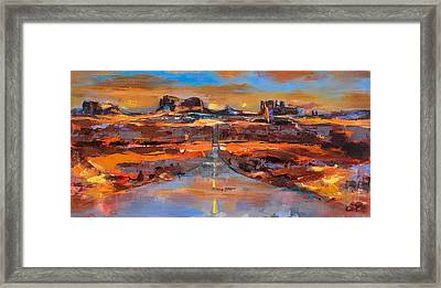 The Land Of Rock Towers Framed Print by Elise Palmigiani