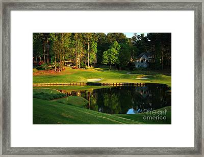 Golf At The Landing #3 In Reynolds Plantation On Lake Oconee Ga Framed Print by Reid Callaway