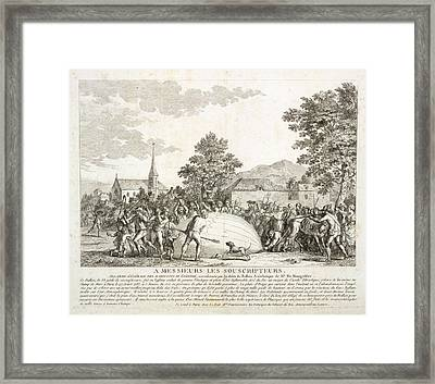 The Landing Of A Balloon Framed Print