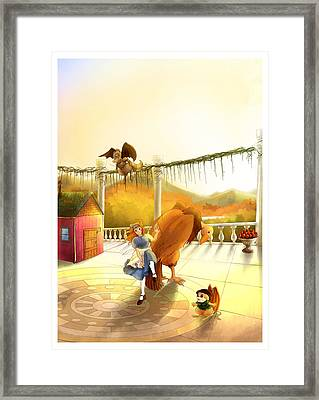 The Landing On The Balcony  Framed Print
