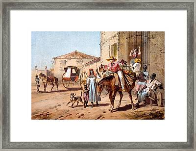 The Landlord, 1840 Framed Print by Federico Mialhe