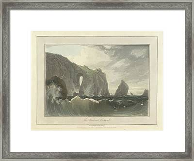 The Lands End In Cornwall Framed Print by British Library