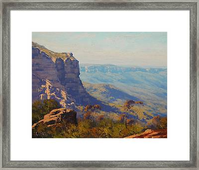 The Landslide Katoomba Framed Print by Graham Gercken