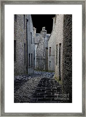 The Lane Framed Print by Lynne Sutherland
