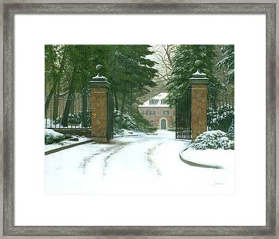 The Lane Way Home Framed Print