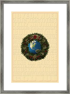 The Language Of Christmas 2 Framed Print