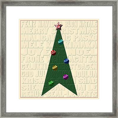 The Language Of Christmas Framed Print