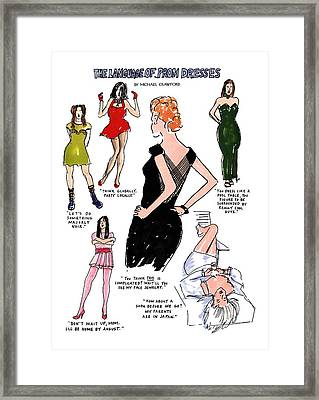 The Language Of Prom Dresses Framed Print by Michael Crawford