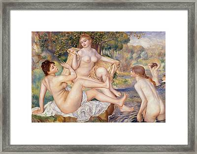 The Large Bathers Framed Print by Georgia Fowler