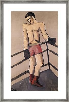 The Large Boxer Framed Print by Helmut von Hugel Kolle