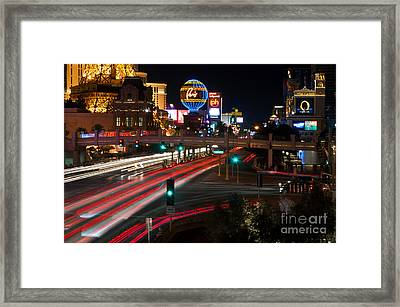 The Las Vegas Strip Framed Print by Eddie Yerkish