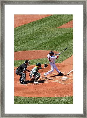 The Laser Show Dustin Pedroia Framed Print